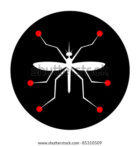 Abstract icon of an insect