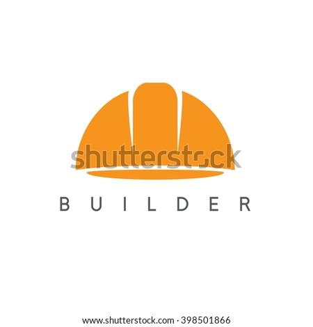 abstract icon vector design template of worker helmet - stock vector
