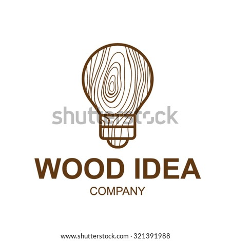 Abstract Icon With Wooden TextureideaLogo DesignVector Illustrationconcept Wood