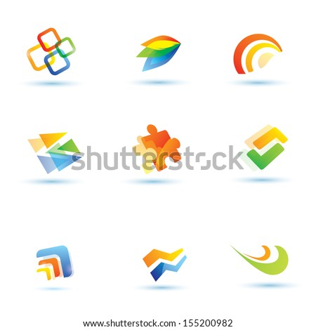 abstract icons set - stock vector