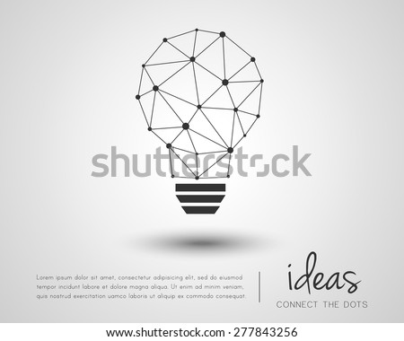 Abstract idea concept in modern geometric style - stock vector
