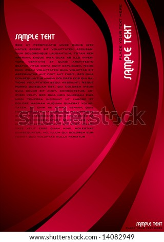 Abstract illustrated background image with red copy space - stock vector