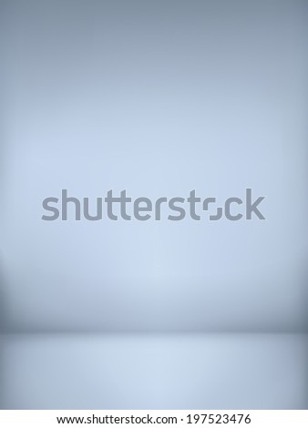abstract illustration background texture of light gray and blue gradient wall, flat floor in empty room. - stock vector