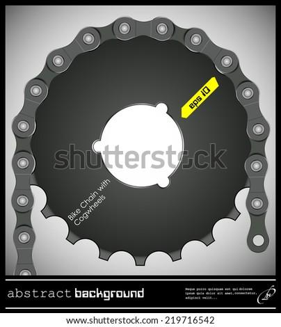 Abstract illustration bike chain - stock vector