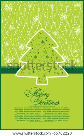 abstract  illustration for design with xmas tree - stock vector