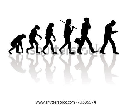 Abstract illustration of evolution - stock vector