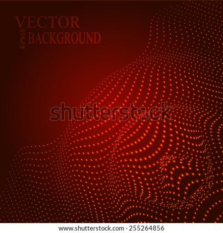 Abstract illustration of sound wave illustration Eps10 illustration - stock vector