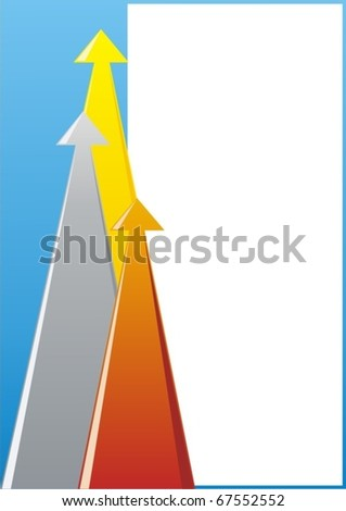 Abstract illustration of the three arrows showing the level of achievement.