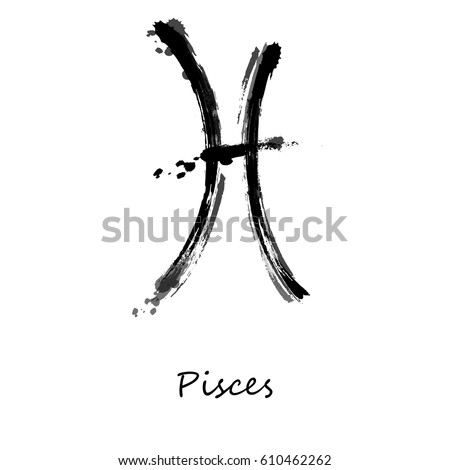 Abstract Illustration Zodiac Sign Pisces Zodiac Stock Vector