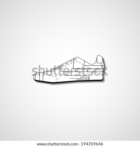 Abstract illustration on sneakers, template editable. - stock vector