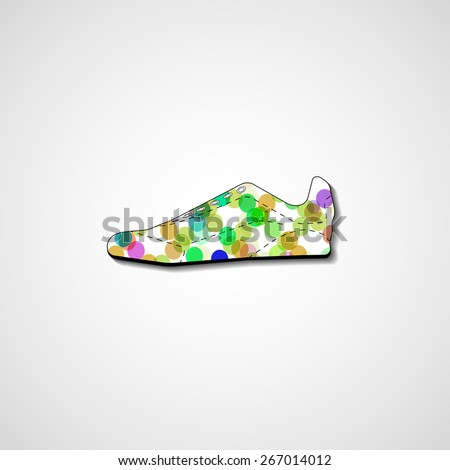 Abstract illustration on sneakers template editable. - stock vector