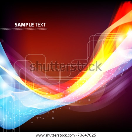 Abstract illustration with blue and red design, vector card.