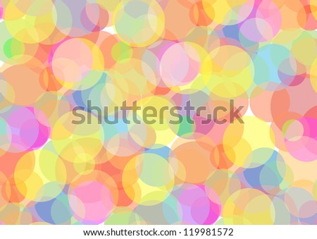 Abstract illustration with circles - stock vector