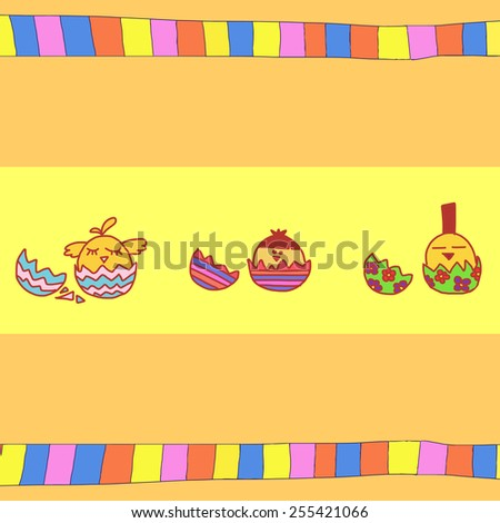 Abstract illustration with eggs - stock vector
