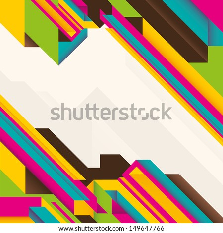 Abstract illustration with geometric objects. Vector illustration. - stock vector