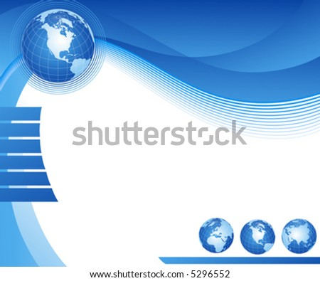 Abstract illustration with globe - stock vector