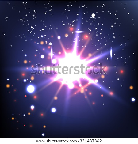 Abstract image of lighting flare. Sun light flare