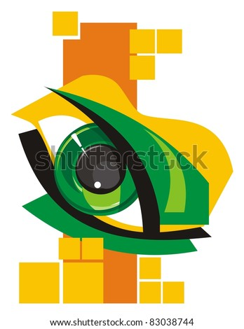 Abstract in style of discos - stock vector