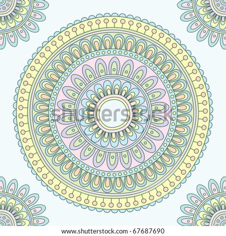Abstract Indian pattern. Vector illustration. - stock vector