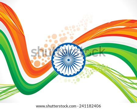 abstract indian wave background vector illustration - stock vector