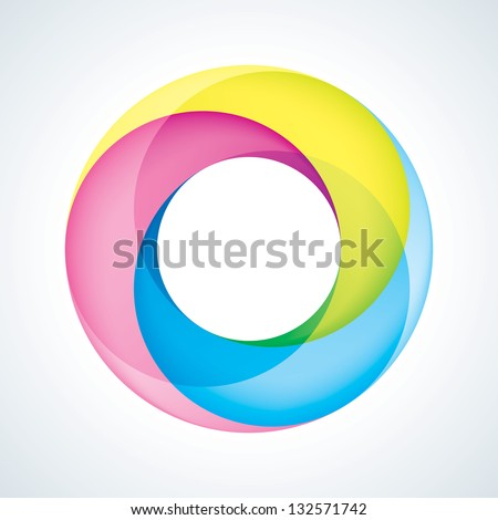 Abstract Infinite Logo Template. Corporate Icon. 3 Pieces Shape. EPS10 - stock vector