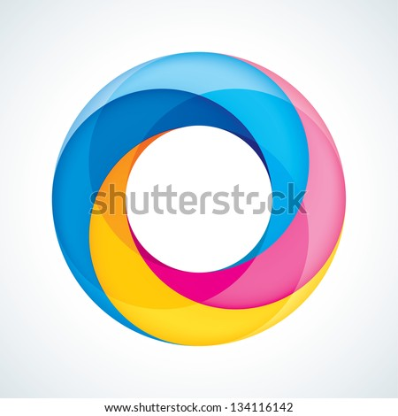Abstract Infinite Loop Sign Template. Icon. 4 Pieces Shape - stock vector