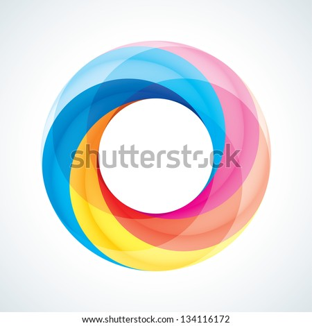 Abstract Infinite Loop Sign Template. Icon. 5 Pieces Shape - stock vector
