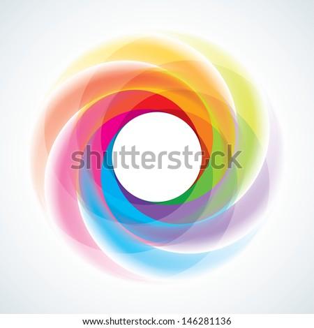 Abstract Infinite Loop Swirl Template. EPS10 - stock vector