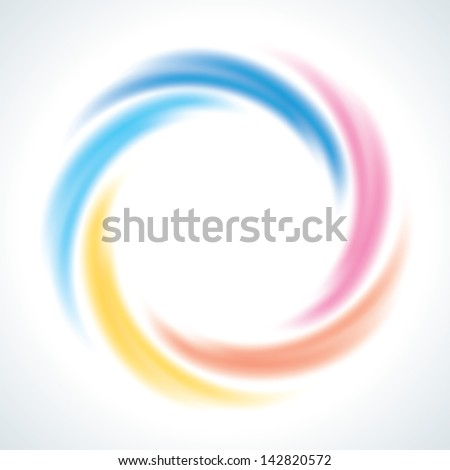 Abstract Infinite Loop Swirl Template. 5 Pieces Shape. EPS10 - stock vector
