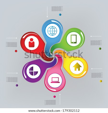 abstract infographic desigtn - stock vector