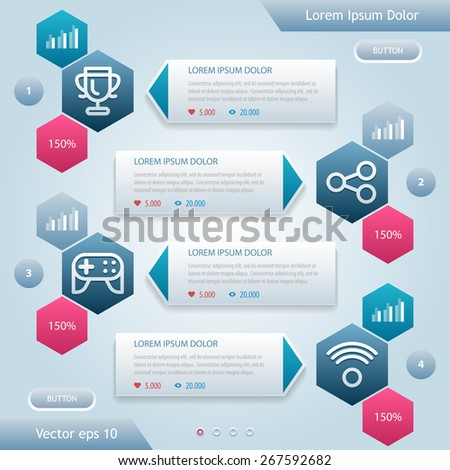 Abstract Infographic. Workflow layout, diagram, number options, web design. Vector illustration eps 10. - stock vector