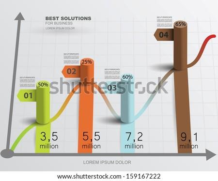 Abstract infographics. Vector template data presentation indicators. Creative design. - stock vector