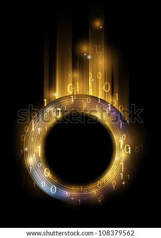 Abstract information background with binary code - stock vector