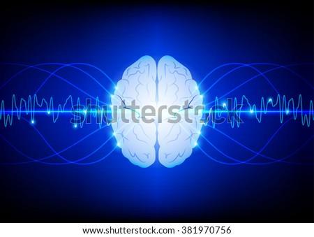 abstract innovation brain  technology  background. illustration vector design - stock vector