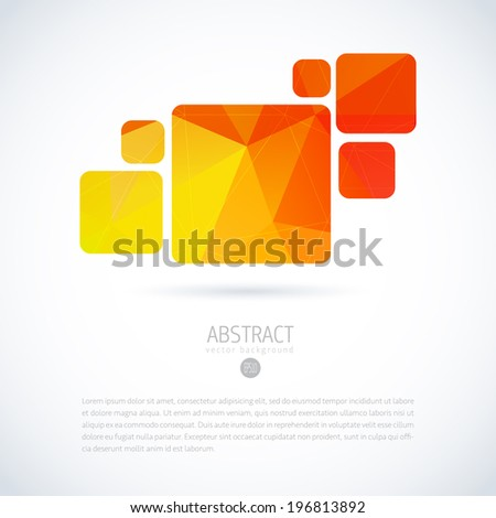 Abstract interface sign template. Concept for internet & applications. Vector icon. - stock vector