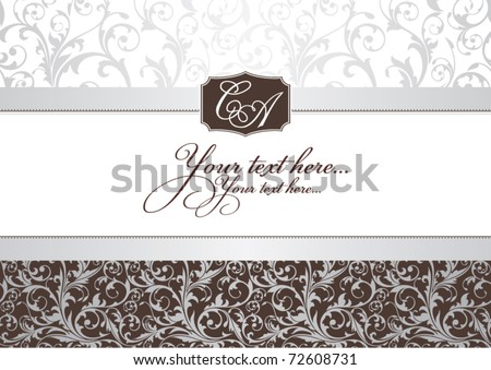 abstract invitation frame vector illustration - stock vector