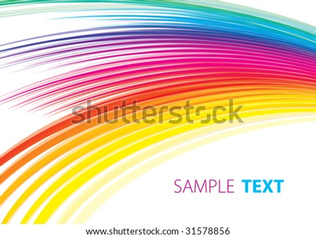 Abstract iridescent tape - stock vector