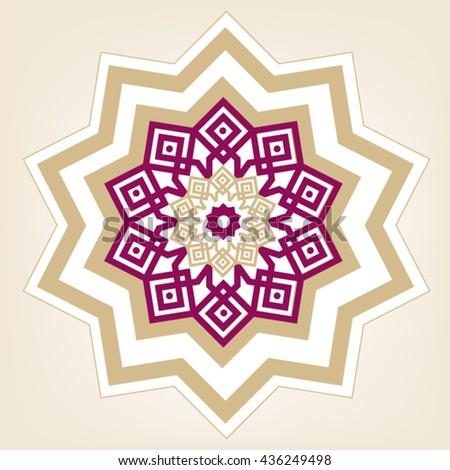 Abstract islamic persian arabesque turkish ottoman stock vector abstract islamic persian arabesque turkish ottoman pattern eid mubarak card arabic design m4hsunfo