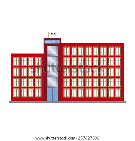 abstract isolated building on a white background