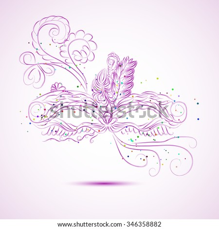 abstract isolated vector mask - stock vector