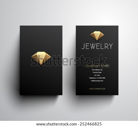 Abstract Jewelry Business Card Template Clean Stock Vector - Jewelry business card templates