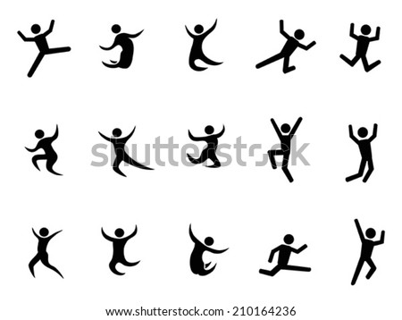 abstract jumping figures - stock vector