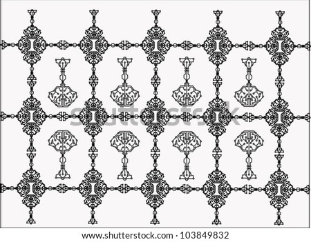 Abstract key circuit background - stock vector
