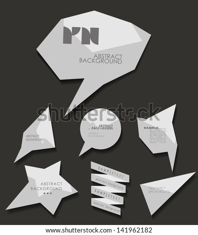 abstract Labels, bubbles, website header or banner vector set with abstract background - stock vector