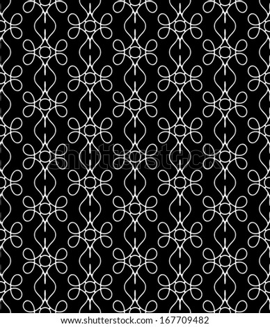 Abstract lace background, seamless vector pattern - stock vector