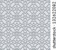 Abstract lace seamless pattern, vector decorative gray background - stock vector