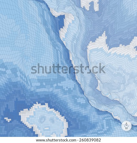 Abstract landscape background. Mosaic vector illustration. Can be used for banner, flyer, book cover, poster, web banners. - stock vector