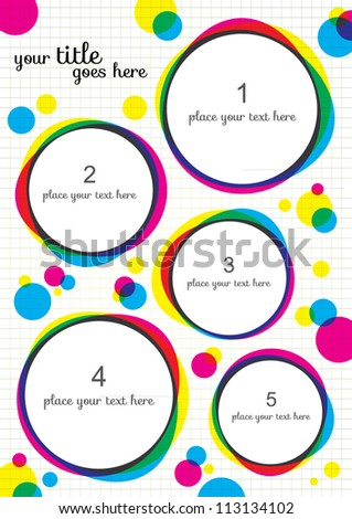 Abstract Layout Design, Round Vector Template - stock vector