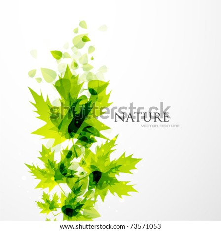 Abstract leaf vector background