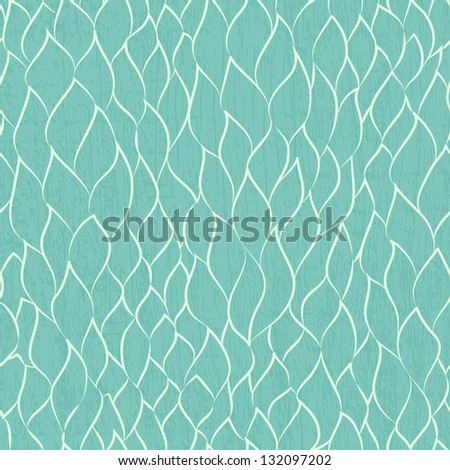 abstract leafs seamless pattern - stock vector